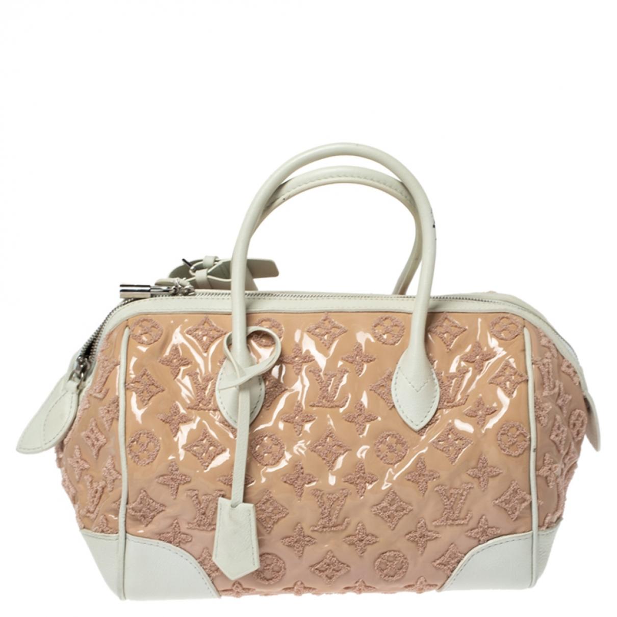 Louis Vuitton - Sac a main Speedy pour femme en cuir verni