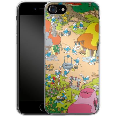 Apple iPhone 7 Silikon Handyhuelle - Smurf Village von The Smurfs