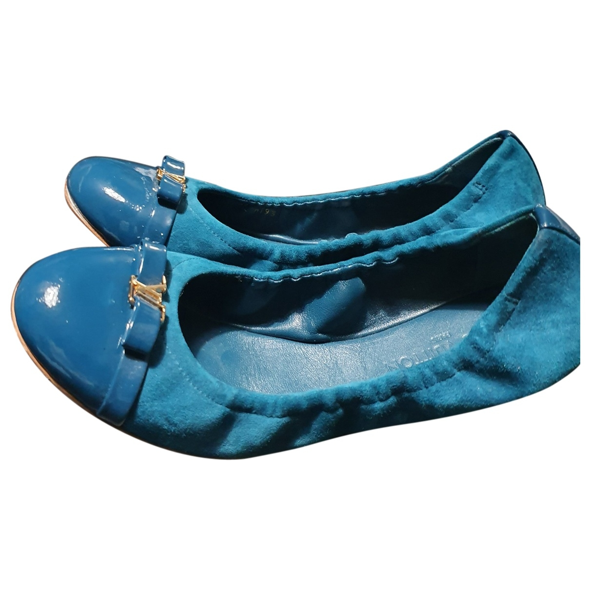 Louis Vuitton - Ballerines   pour femme en suede - bleu