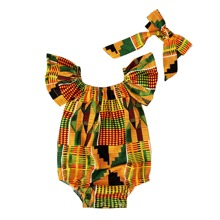 Baby Girl Geo Print Bodysuit