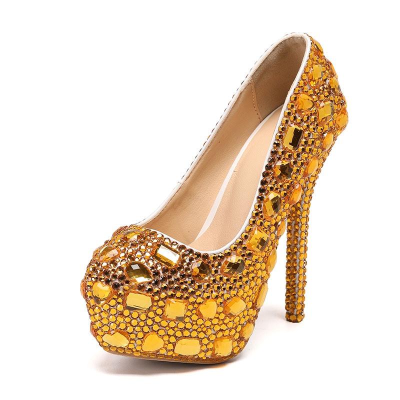 Ericdress Round Toe Slip-On Stiletto Heel Plain Thin Shoes