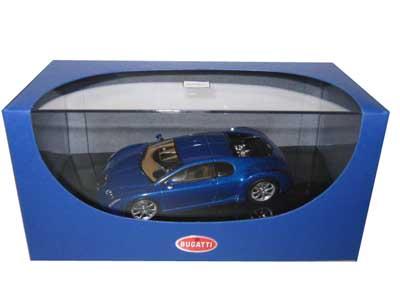 Bugatti Chiron EB 18.3 Blue 1/43 Diecast Model Car by Autoart