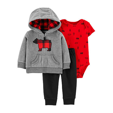Carter's Baby Boys 3-pc. Pant Set, 9 Months , Red