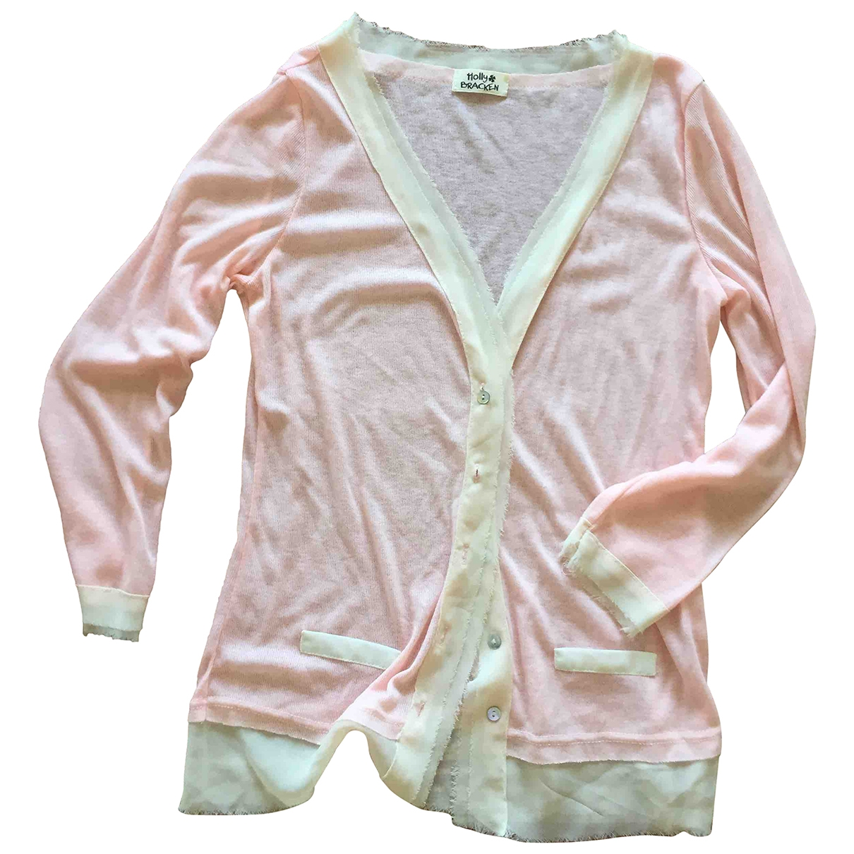 Non Signe / Unsigned \N Pullover in  Rosa Polyester