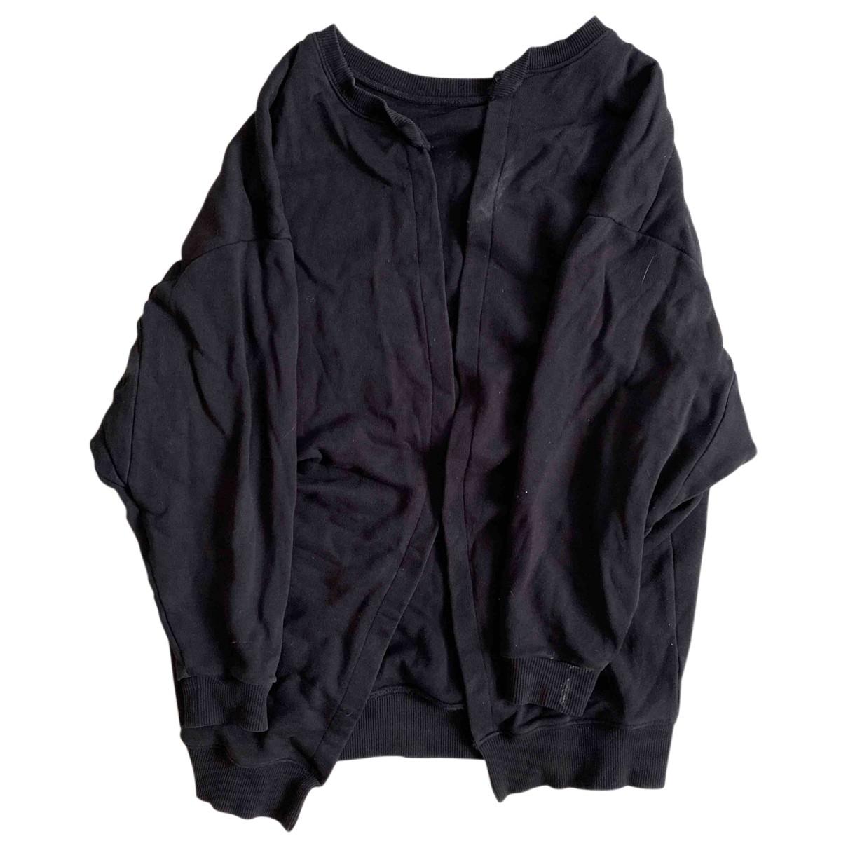 Saint Laurent N Black Cotton Knitwear for Women 34 FR