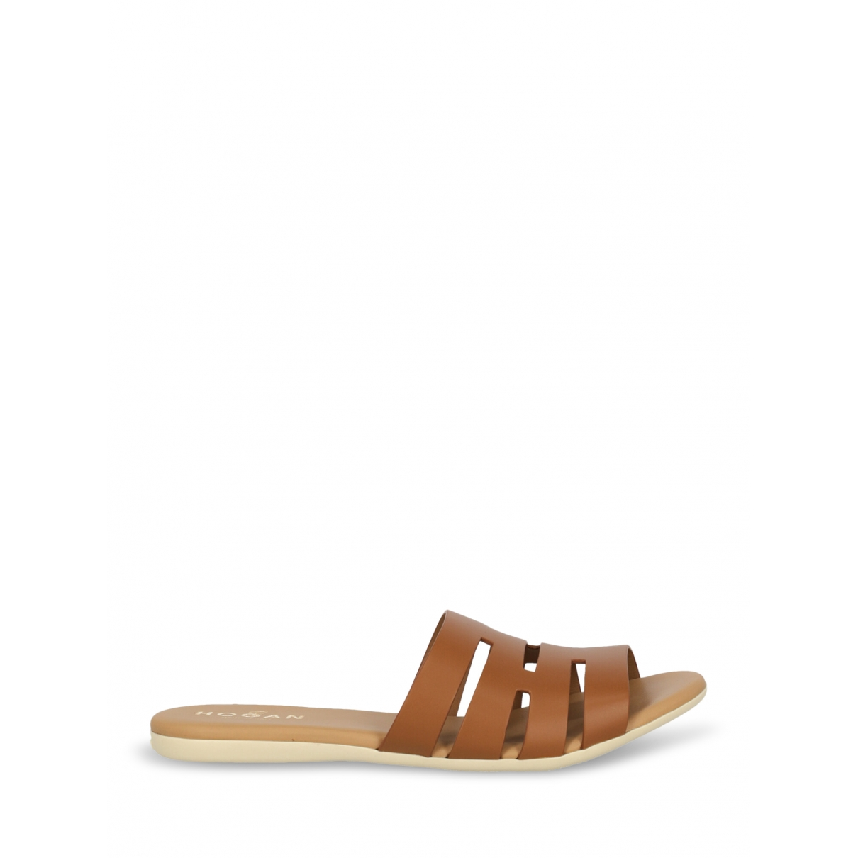 Hogan \N Brown Leather Sandals for Women 38.5 IT