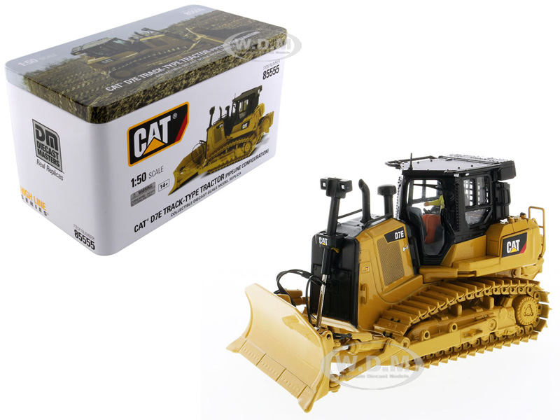 CAT Caterpillar D7E Track Type Tractor Dozer in Pipeline Configuration with Operator