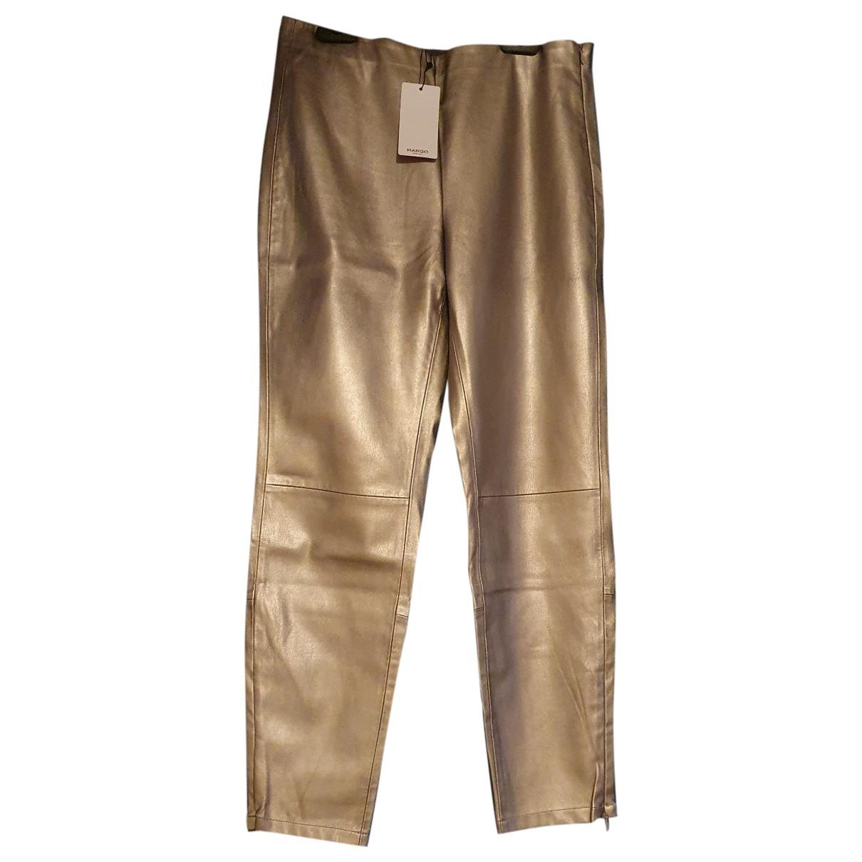 Mango \N Metallic Trousers for Women L International