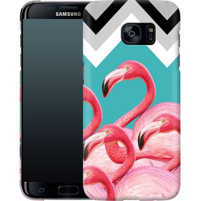 Samsung Galaxy S7 Edge Smartphone Huelle - Flamingo Pattern von Mark Ashkenazi