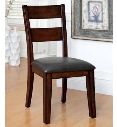 Dickinson I Collection CM3187SC-2PK Set of 2 Transitional Style Side Chair with Padded Leatherette Seat  Bold and Sturdy Design in Dark