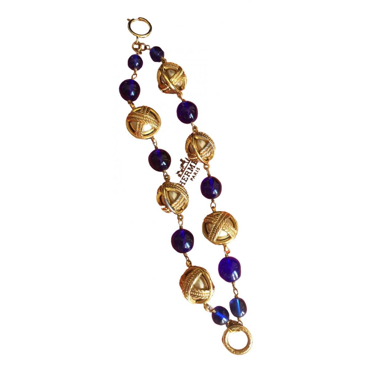 Chanel - Bracelet Gripoix pour femme en perles - bleu