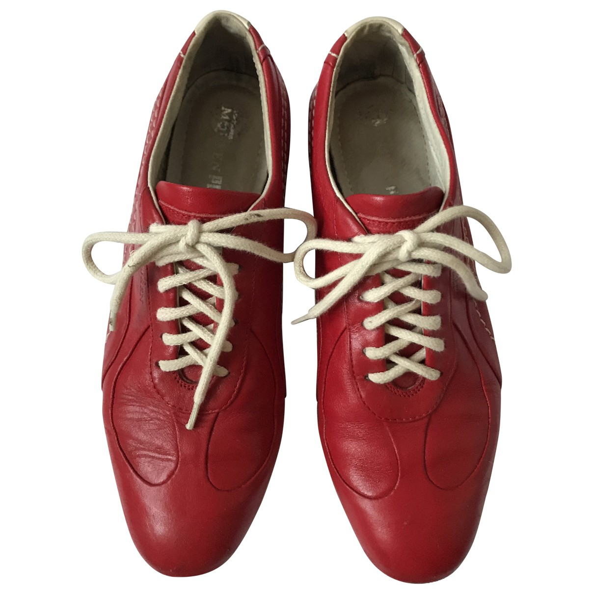Alexander Mcqueen For Puma \N Red Leather Trainers for Women 38 EU