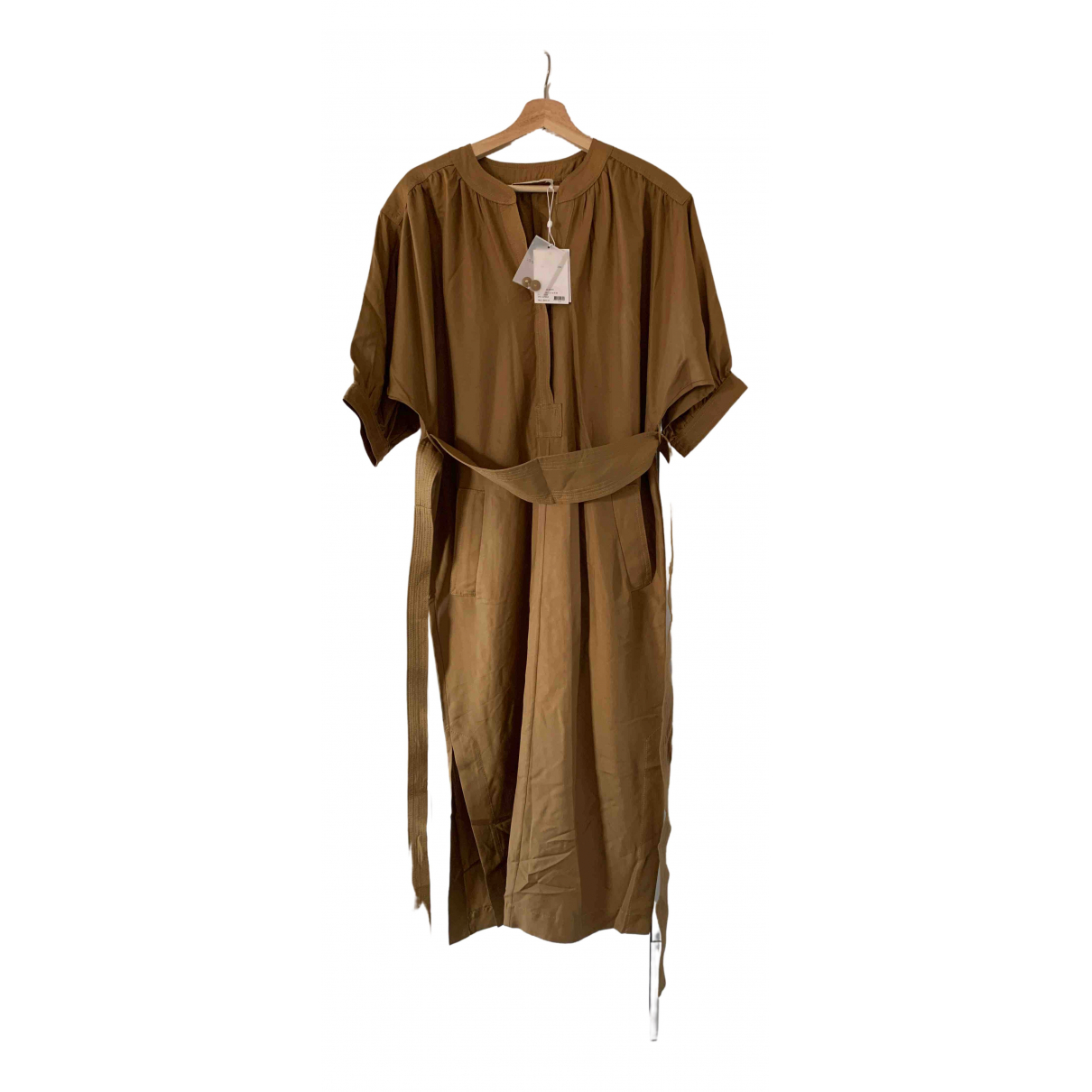 Zimmermann \N Gold Silk dress for Women 38 FR