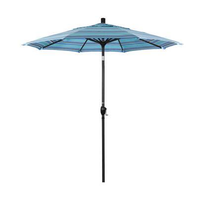GSPT758302-56001 7.5' Pacific Trail Series Patio Umbrella With Stone Black Aluminum Pole Aluminum Ribs Push Button Tilt Crank Lift With Sunbrella 1A