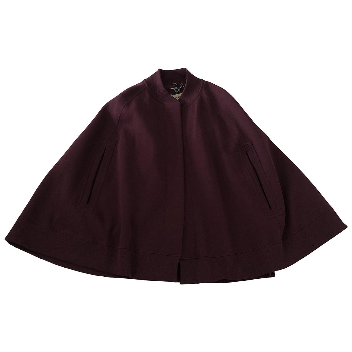 Burberry - Veste   pour femme en coton - bordeaux