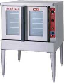 DFG100XCELSGL XCEL Series Full-Size Dual Flow Gas Convection Oven with Four Chrome-Plated Racks  Fully Welded Angle Iron Frame  Dual Flow Gas System