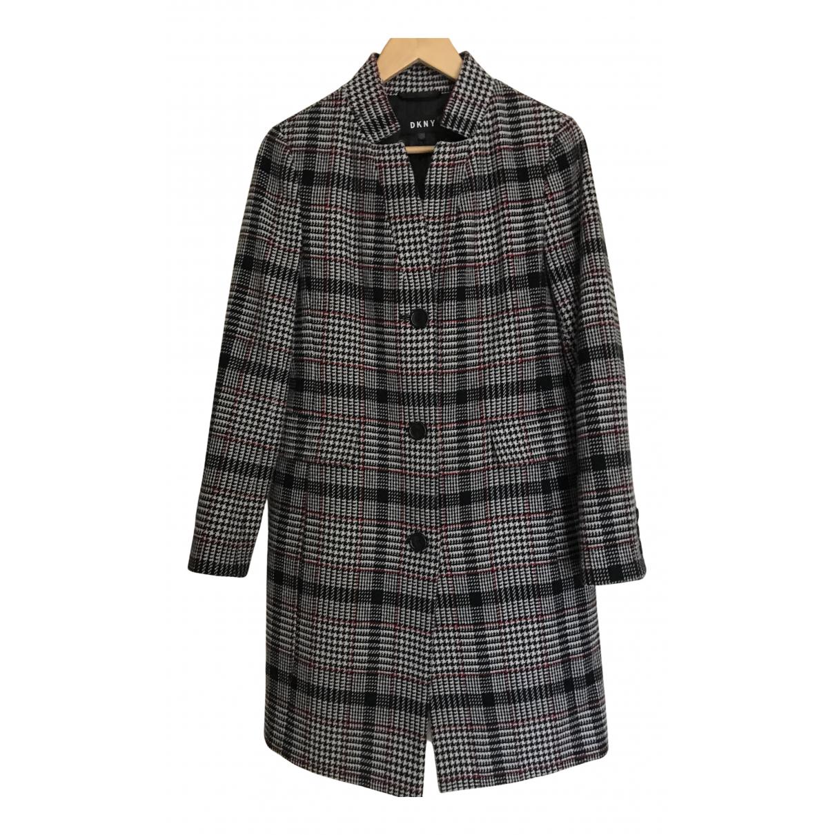Dkny - Manteau   pour femme en laine - multicolore