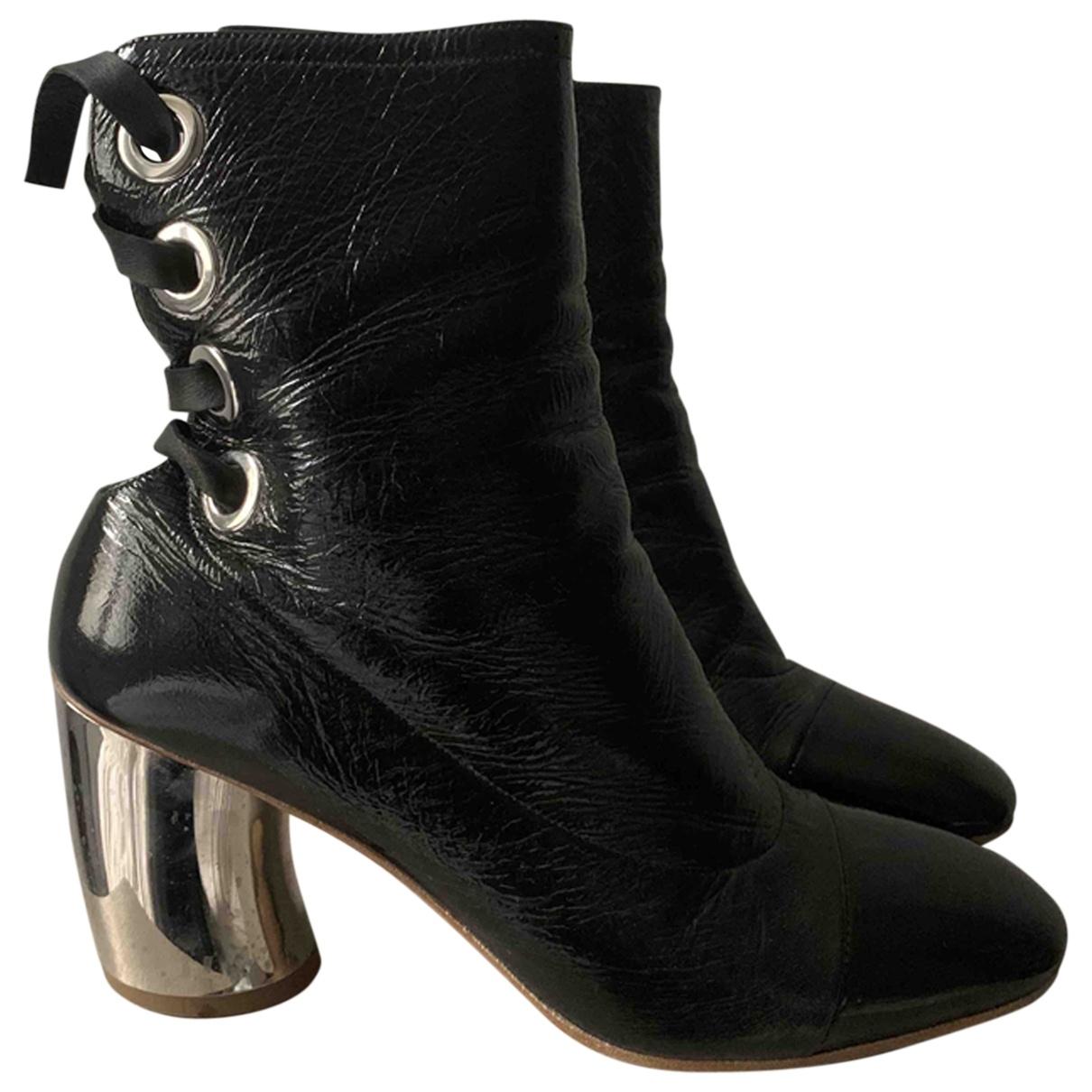 Proenza Schouler - Boots   pour femme en cuir verni - noir