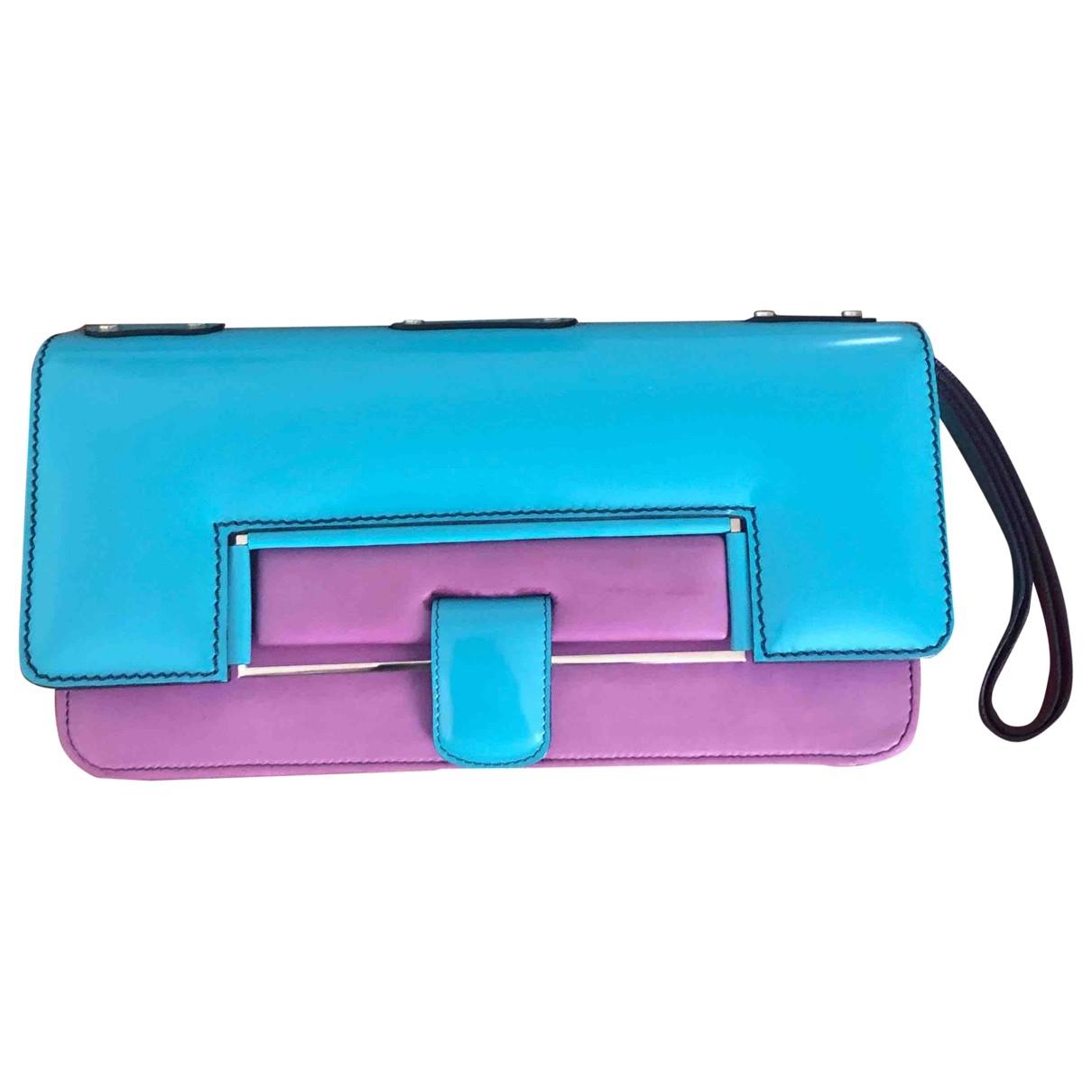 Chloé \N Blue Leather Clutch bag for Women \N