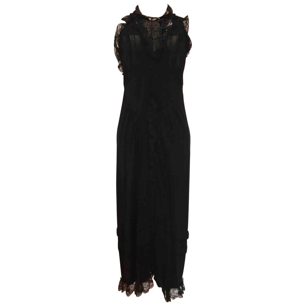 Balenciaga \N Kleid in  Schwarz Viskose