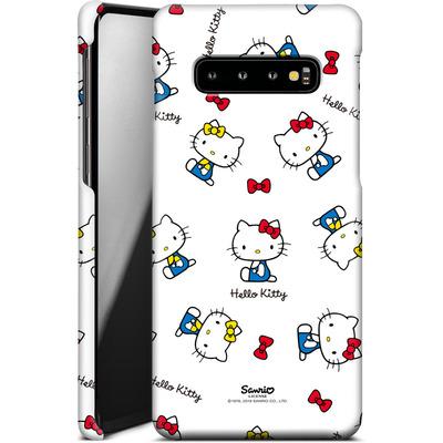 Samsung Galaxy S10 Plus Smartphone Huelle - Hello Kitty and Mimmy Pattern von Hello Kitty