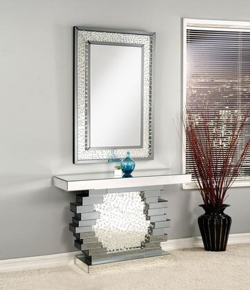 Nysa Collection 90232SET 2 PC Console Set with 47 Console Table and Rectangle Accent Mirror in Mirrored