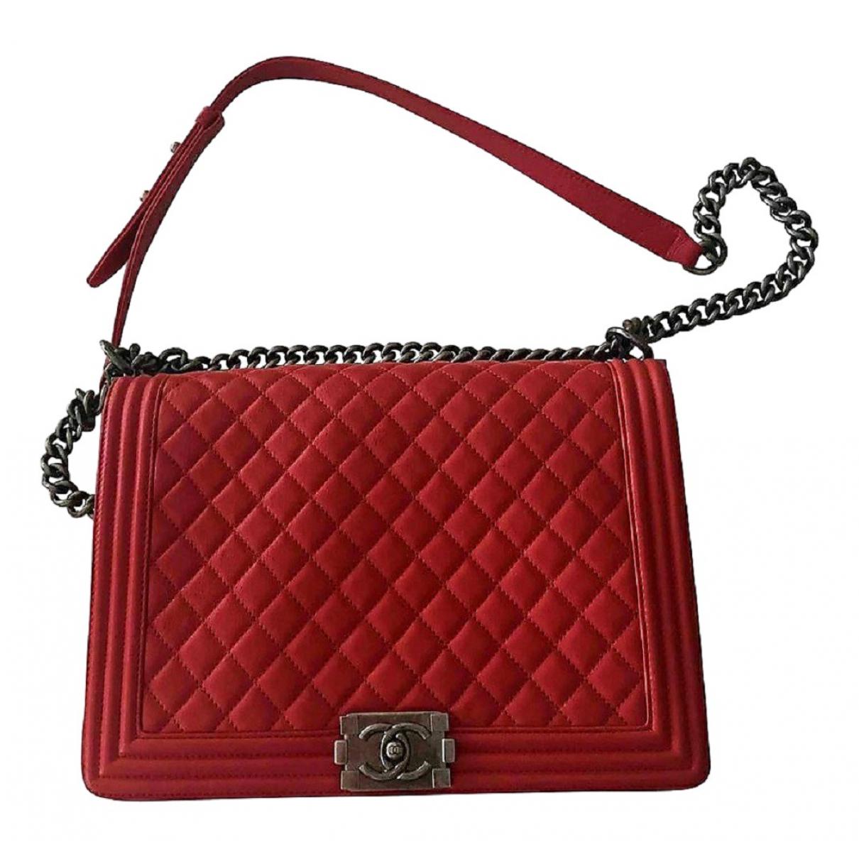Chanel Boy Red Leather handbag for Women \N