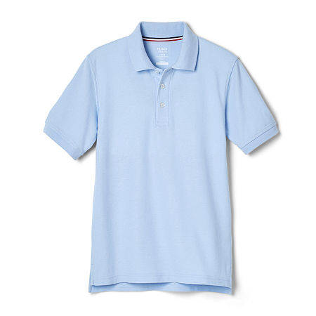 French Toast Little & Big Boys Short Sleeve Polo Shirt, Large , Blue