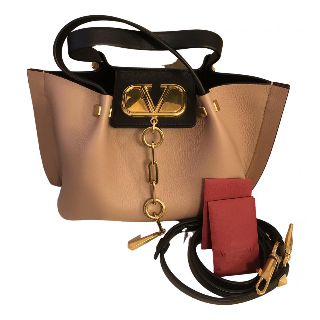 Valentino Garavani \N Pink Leather handbag for Women \N
