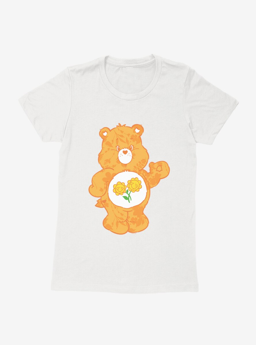Care Bears Friend Bear Floral Womens T-Shirt
