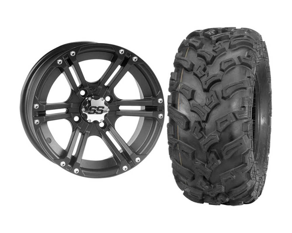 ITP KIT W373207/T608991 RIGHT SS212 12x7 2+5 | 4x110 w/Quad Boss QBT447 26x11-12 Wheel & Tire Package