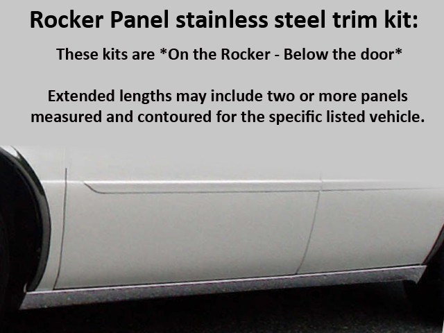 Quality Automotive Accessories 6 Piece Stainless Stainless Steel Rocker Panel TrimCadillac DTS  06-11