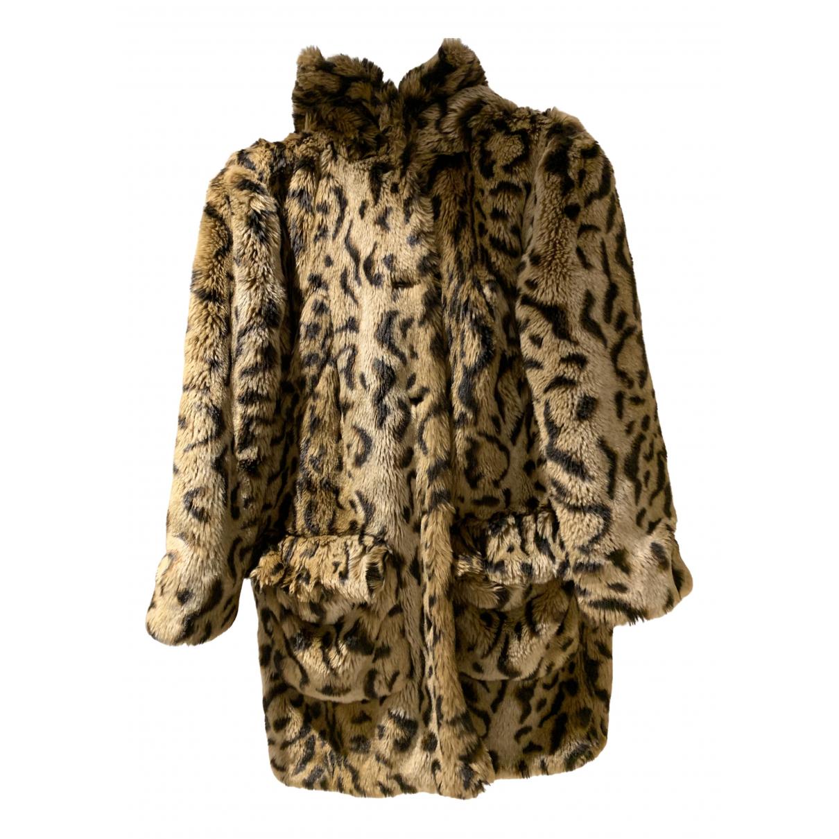 Miu Miu - Manteau   pour femme en fourrure synthetique - beige