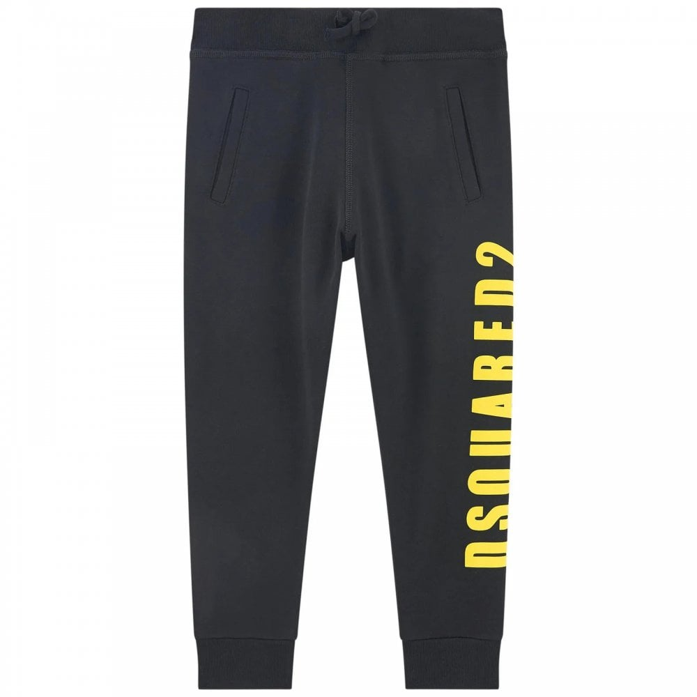 Dsquared2 Side Logo Joggers. Colour: BLACK, Size: 16 YEARS