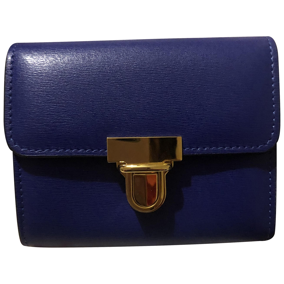 Marni \N Portemonnaie in  Blau Leder