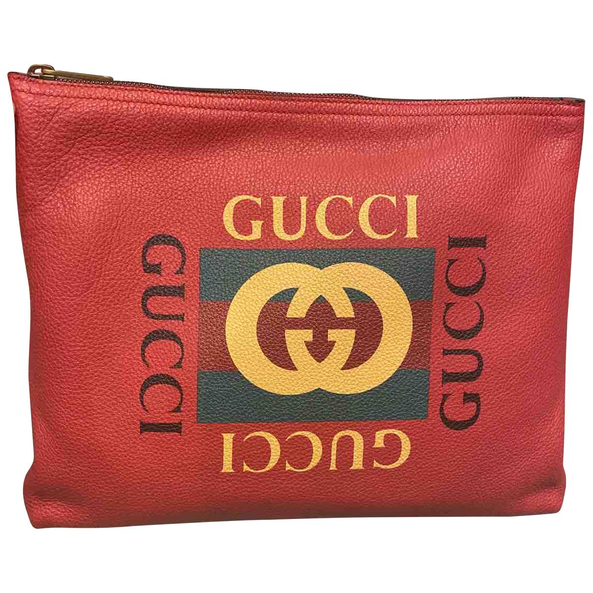 Gucci - Sac   pour homme en cuir - bordeaux