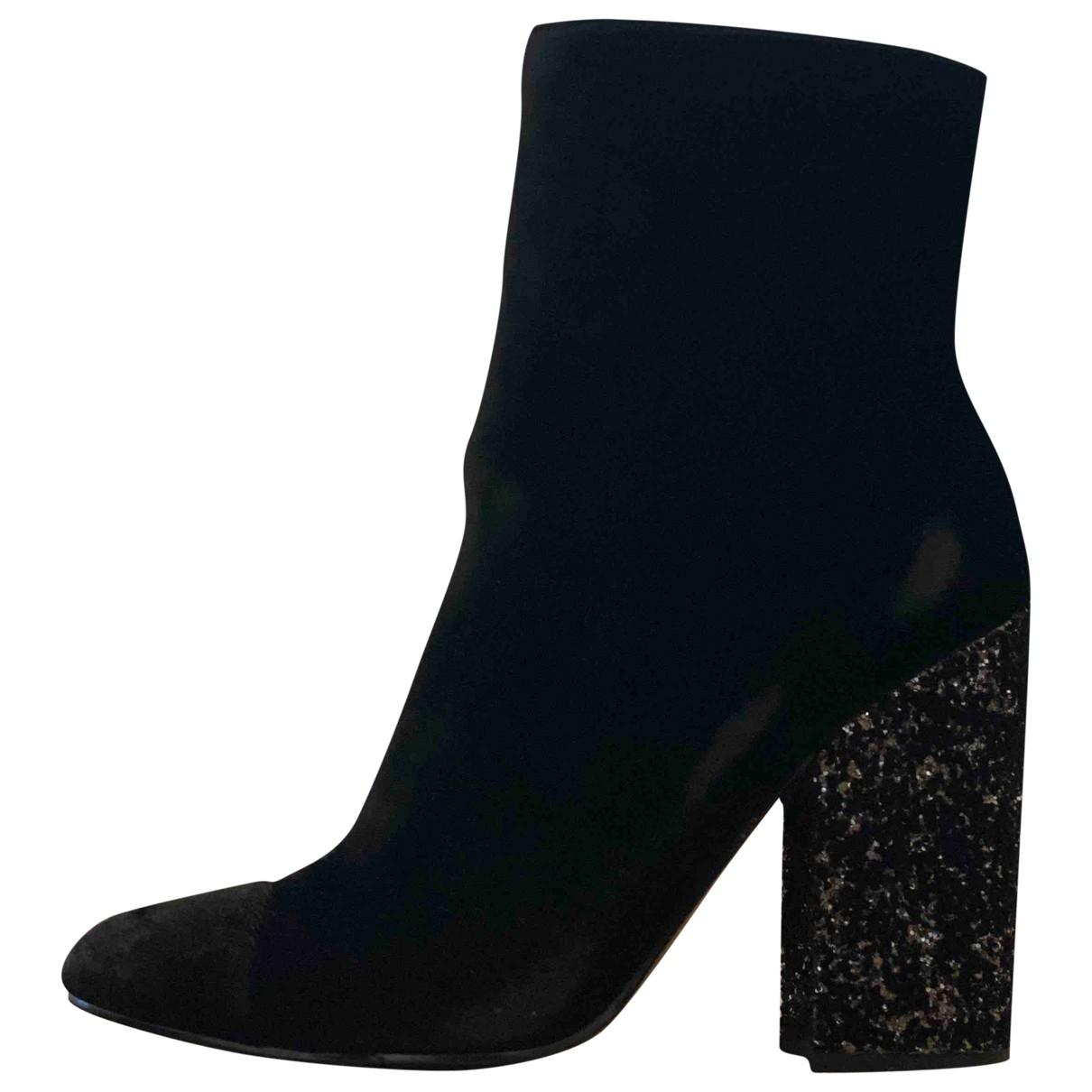 Kendall + Kylie - Boots   pour femme en velours - noir