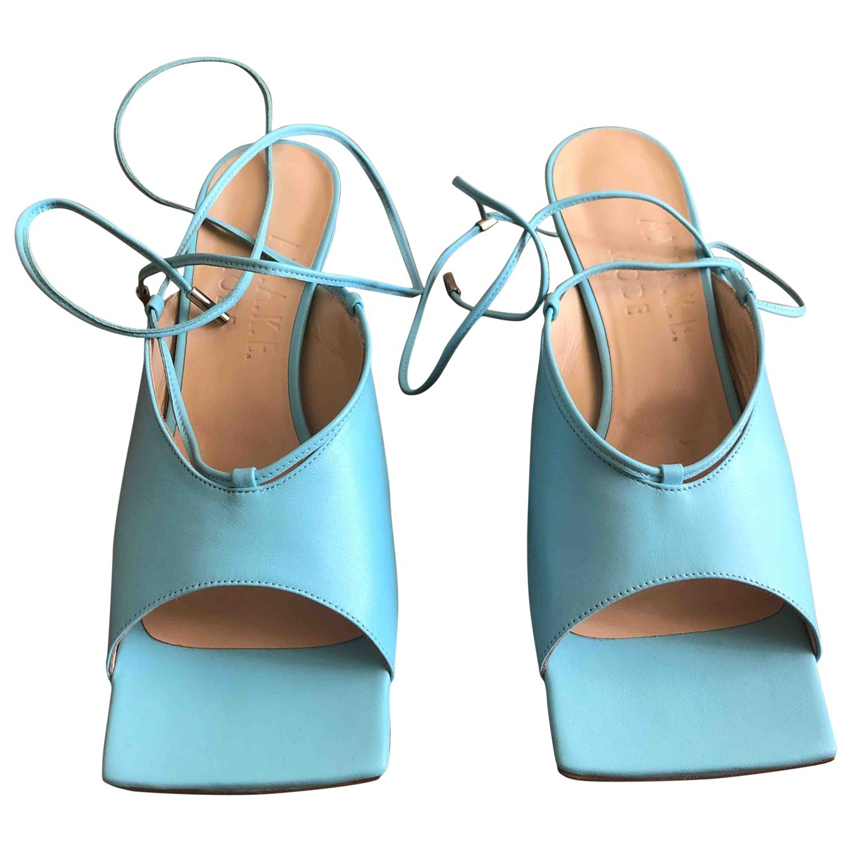 A.w.a.k.e. \N Sandalen in  Blau Leder