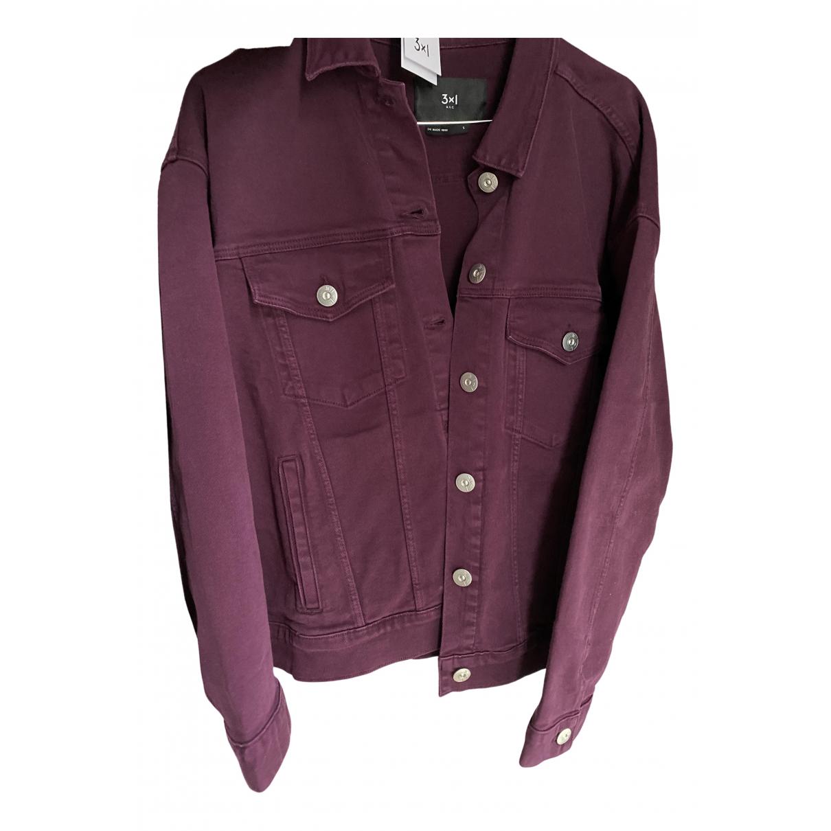 3x1 \N Jacke in  Bordeauxrot Denim - Jeans
