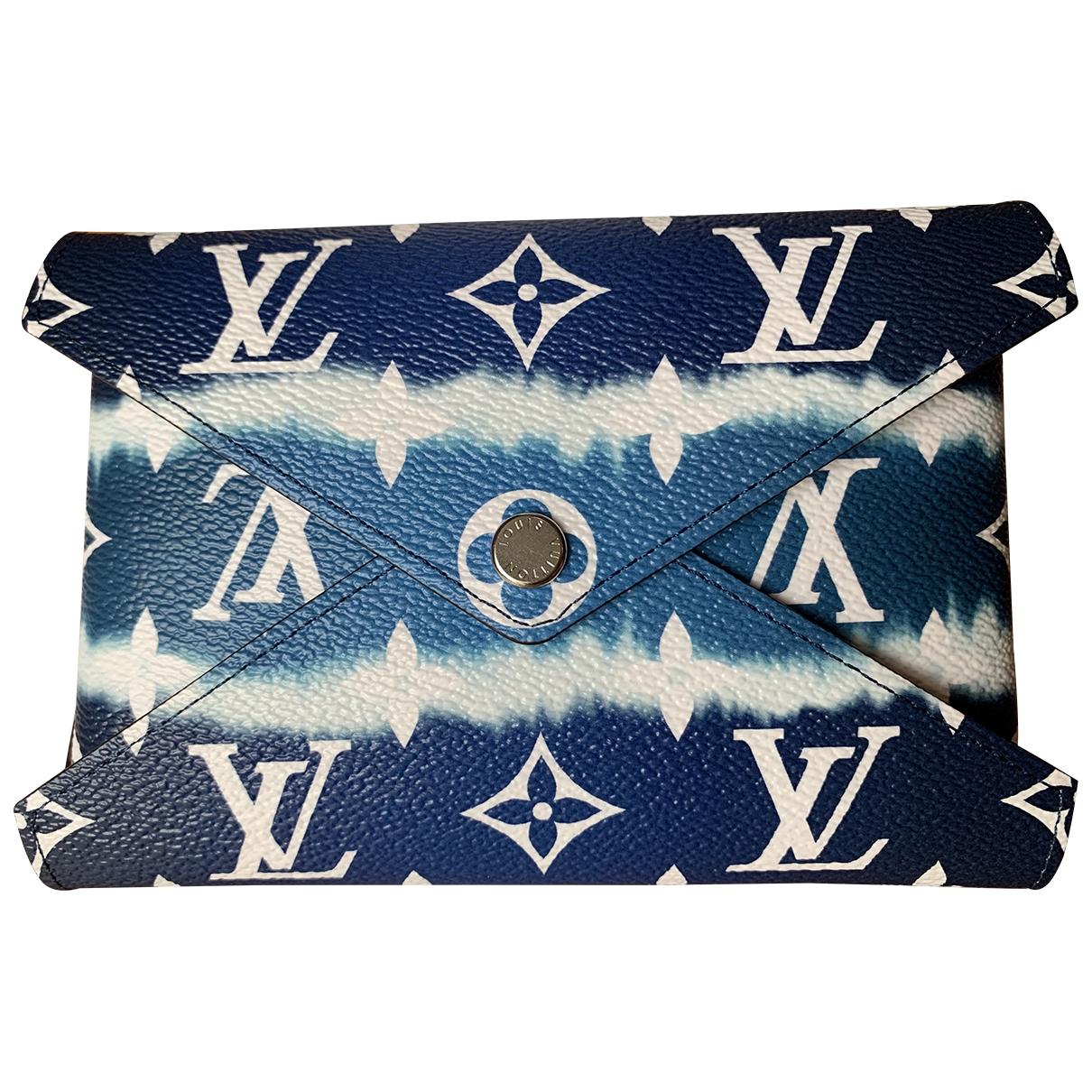 Louis Vuitton Kirigami Clutch in  Blau Leinen