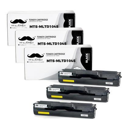 Compatible Samsung MLT-D104S cartouche de toner noire - Moustache - 3/paquet