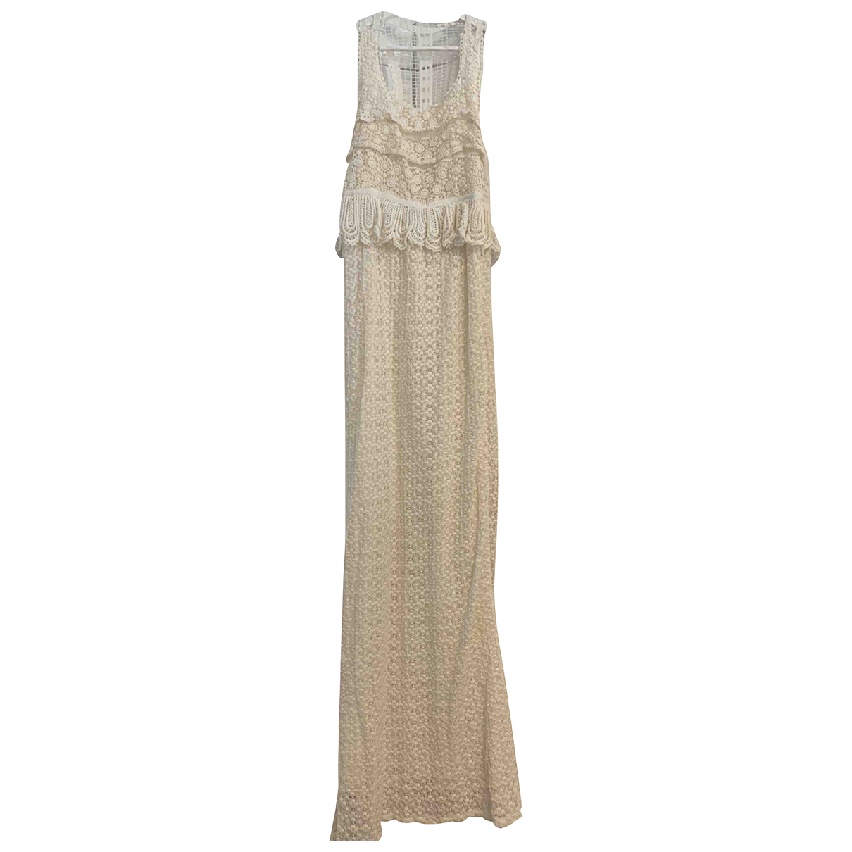 Non Signé / Unsigned N Beige dress for Women 6 US