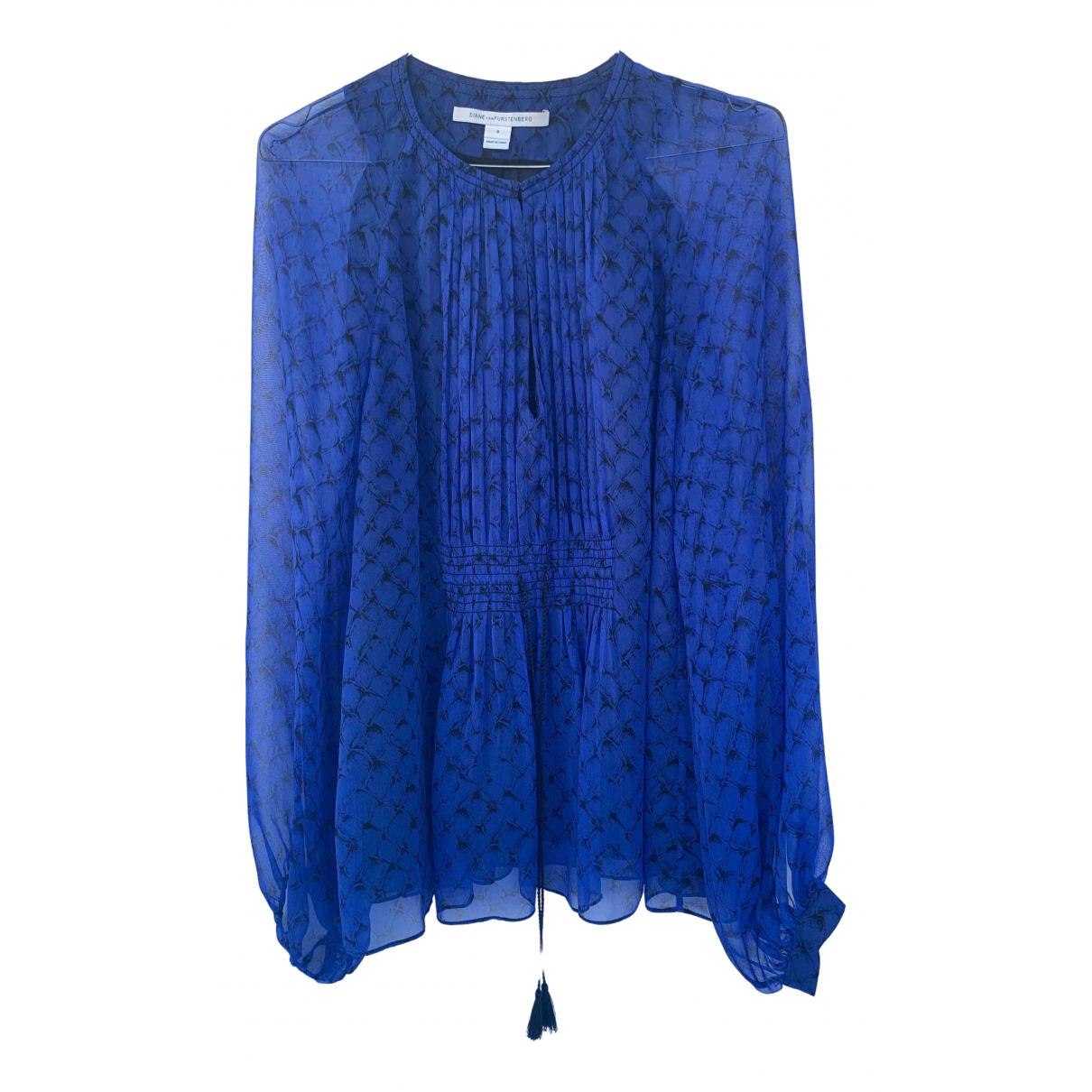 Diane Von Furstenberg \N Blue Silk  top for Women 8 US