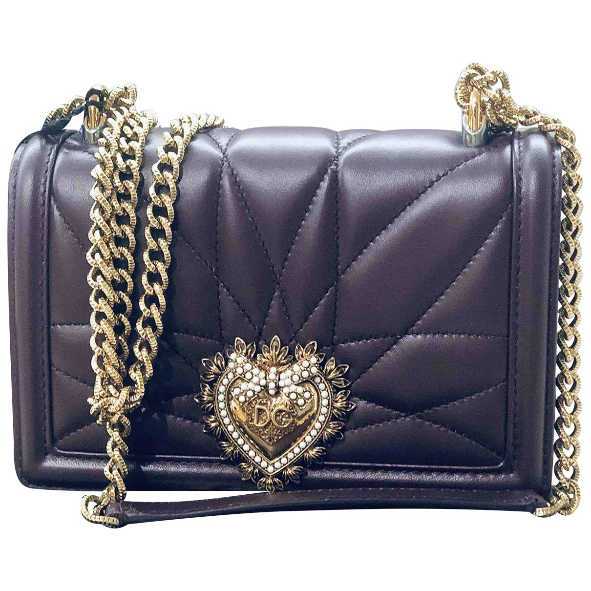 Dolce & Gabbana - Sac a main Devotion pour femme en cuir - bordeaux