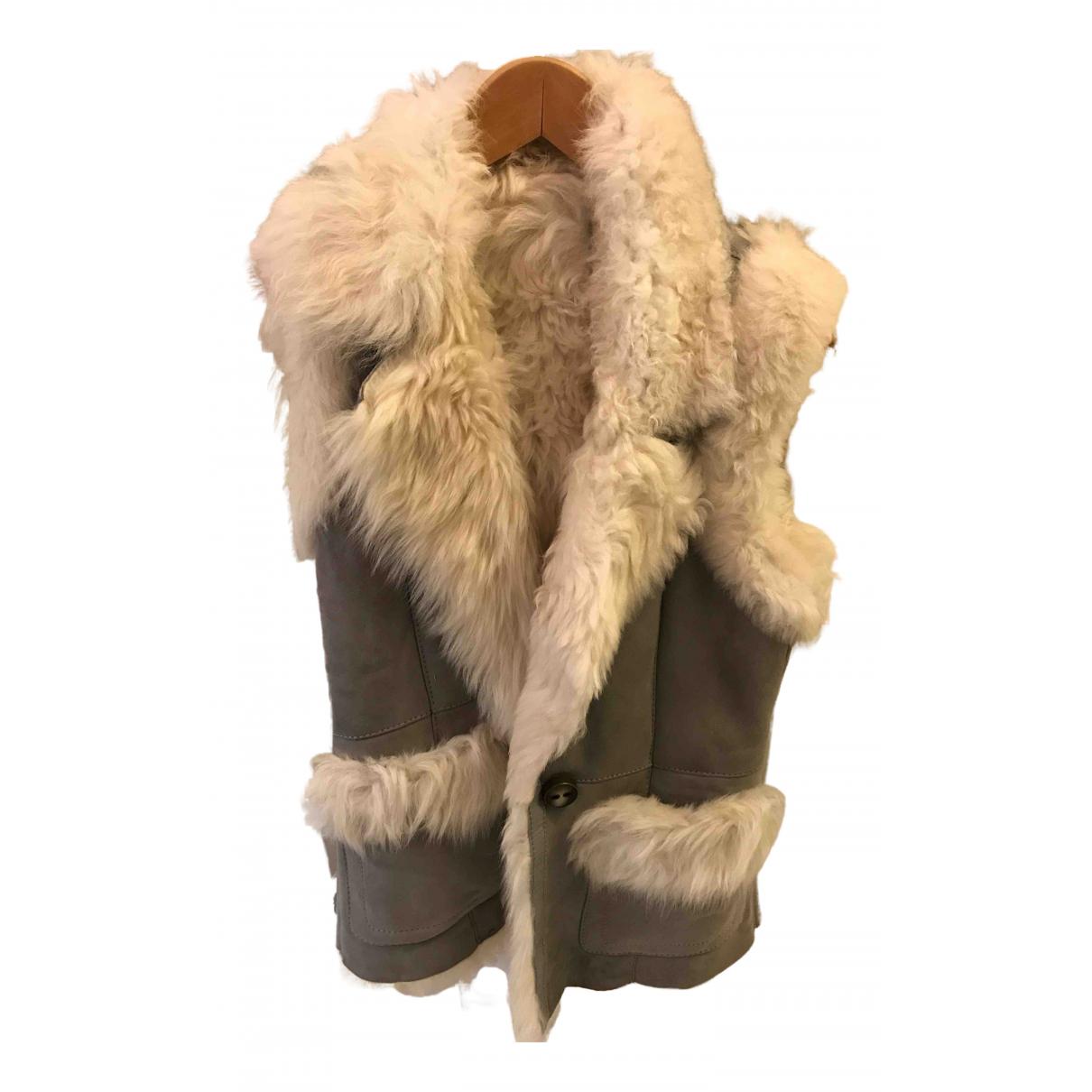 Pinko \N Grey Fur coat for Women 46 IT