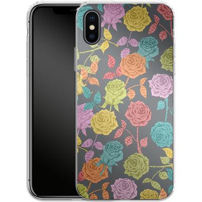 Apple iPhone X Silikon Handyhuelle - Roses von Bianca Green
