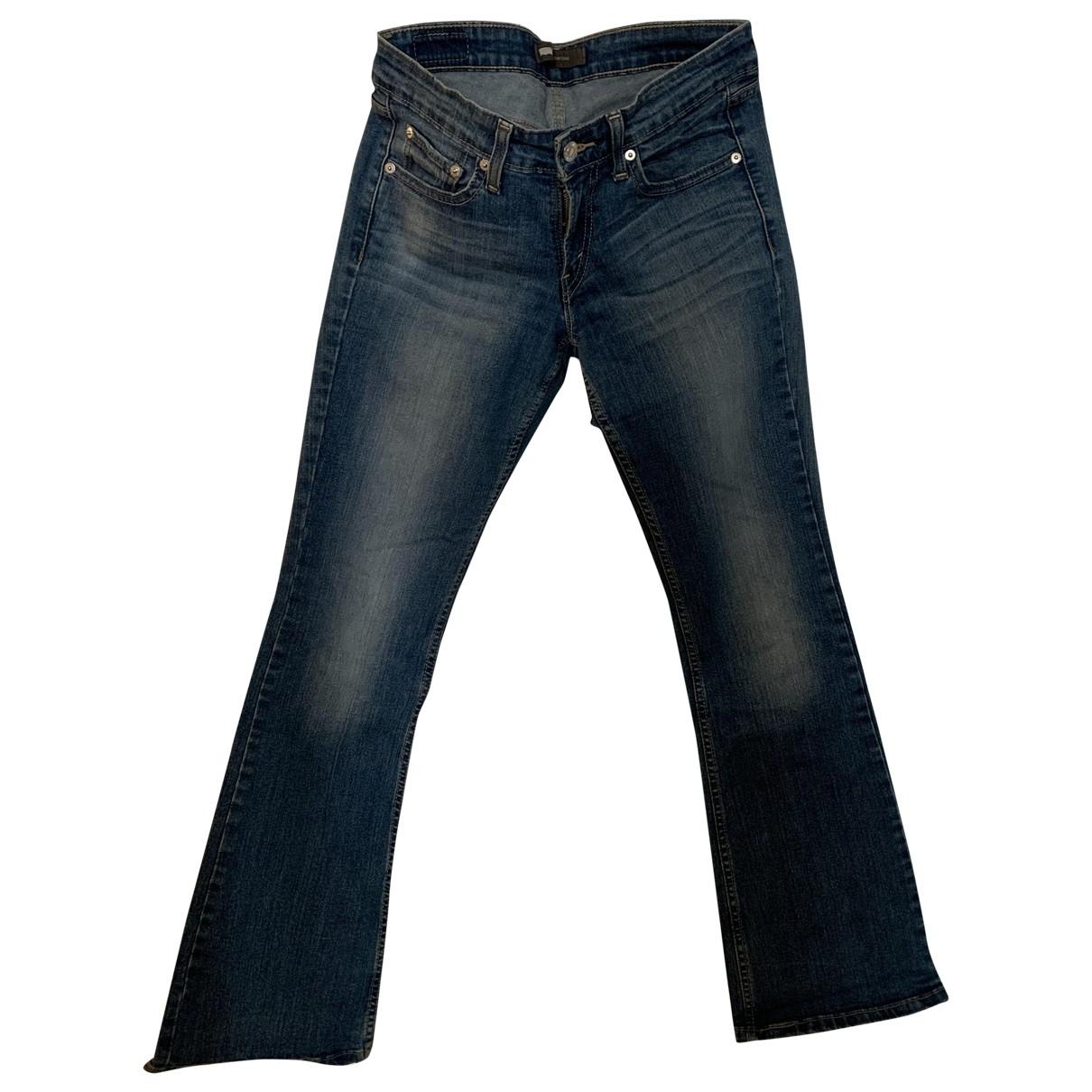 Levi's \N Blue Cotton Jeans for Women 36 FR