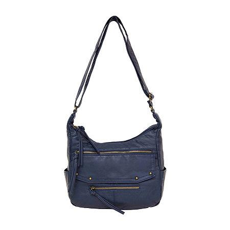 Bueno of California Large Washed Crossbody Bag, One Size , Blue