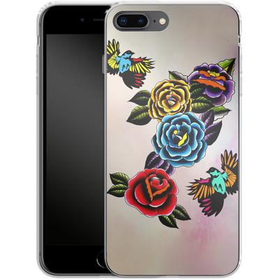 Apple iPhone 7 Plus Silikon Handyhuelle - Tattoo Roses von Mark Ashkenazi