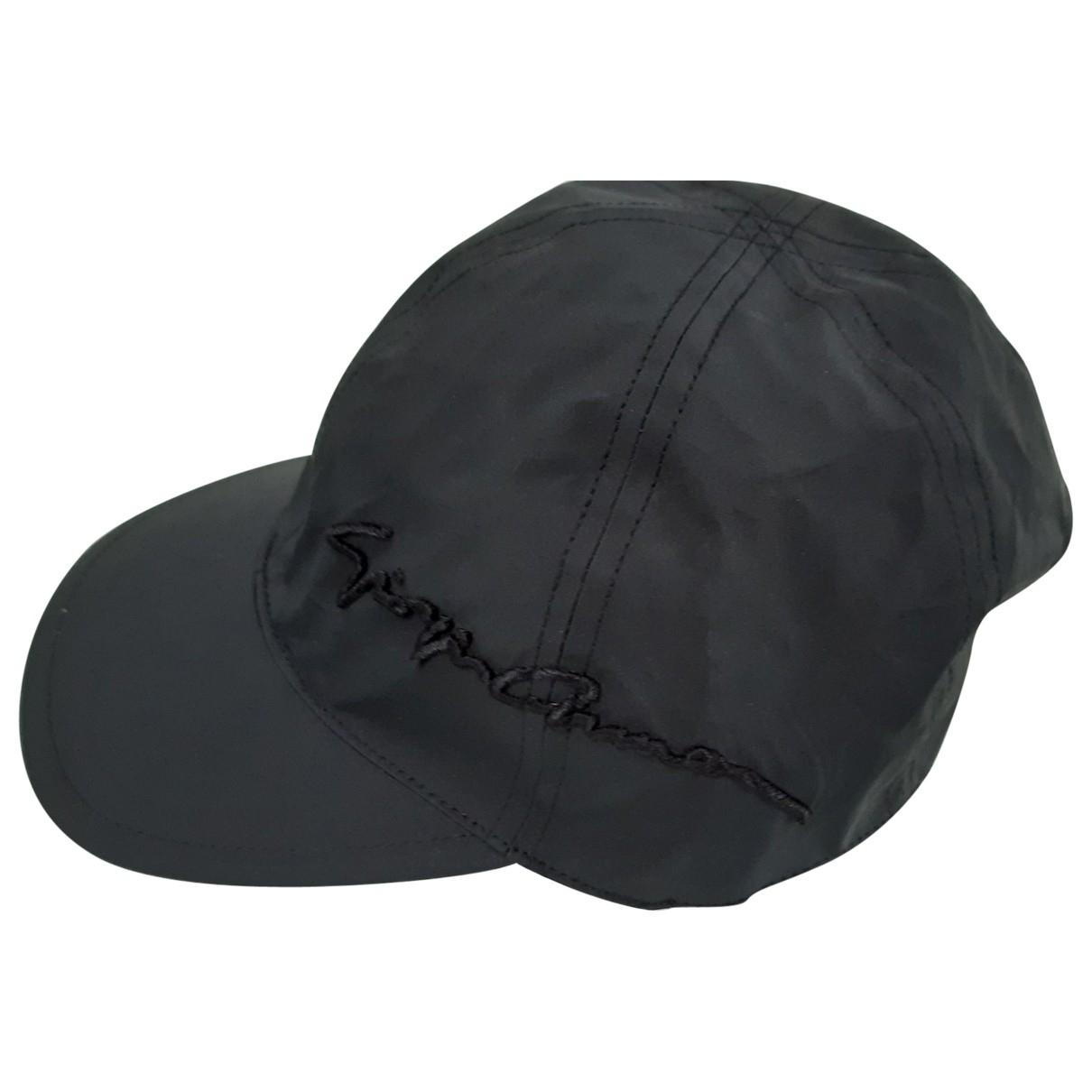 Giorgio Armani - Chapeau & Bonnets   pour homme en coton - noir